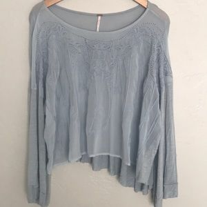 Free People Long Sleeved Blouse